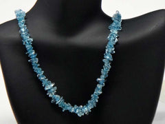 Stone handicrafted necklace - Azure