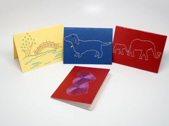 Assorted embroidered small cards