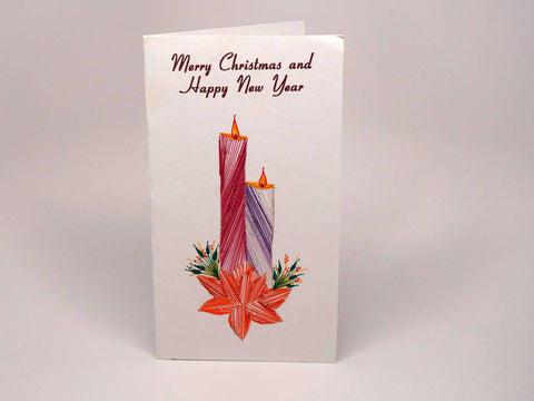 Christmas greeting card - two candles
