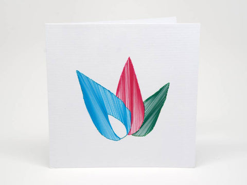 Embroidered greeting card - Kolours