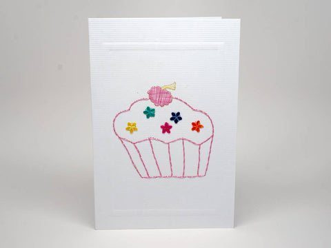 Greeting card - birthday emboidery