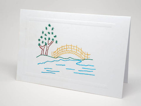 Greeting card - Japanese art emboidery