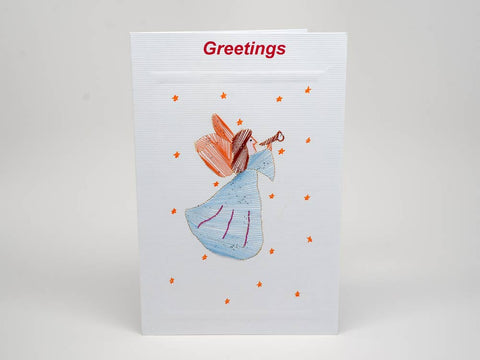Christmas card - angel embroidery