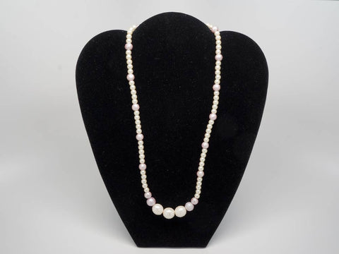 Pearl white handmade necklace