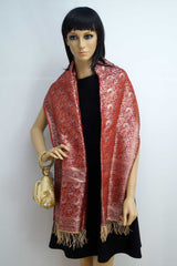 Majestic Indian design silk shawl