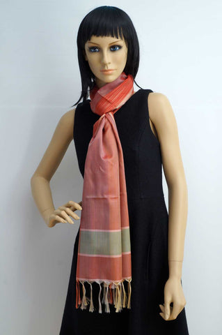 Modern Indian design silk scarf