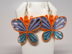 Butterfly  handmade paper filigree earrigs