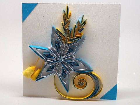 Paper filligree handmade christmas decorated card
