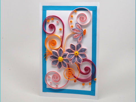Paper filligree handmade Birthday card