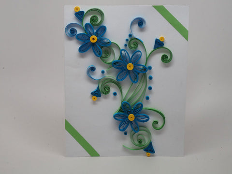 Paper filligree handmade  birthday and christmas card
