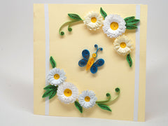 Paper filigree handmade  birthday card