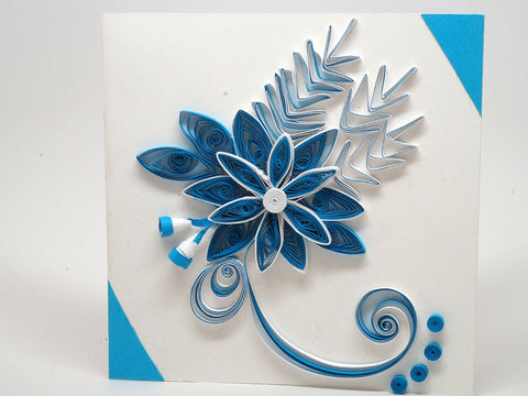 Paper filigree handmade christmas card