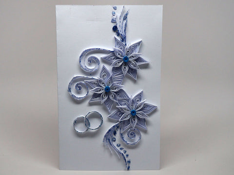 Paper filigree handmade Wedding invitation card