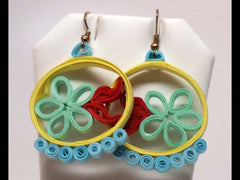 Summer handmade paper filigree earrigs