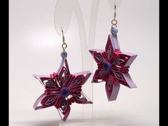 Star handmade paper filigree earrigs