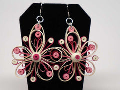 Handmade paper filigree pinky earrings