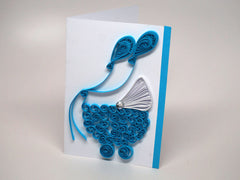 Small card for babies/children/Baptism handmade with paper filigree
