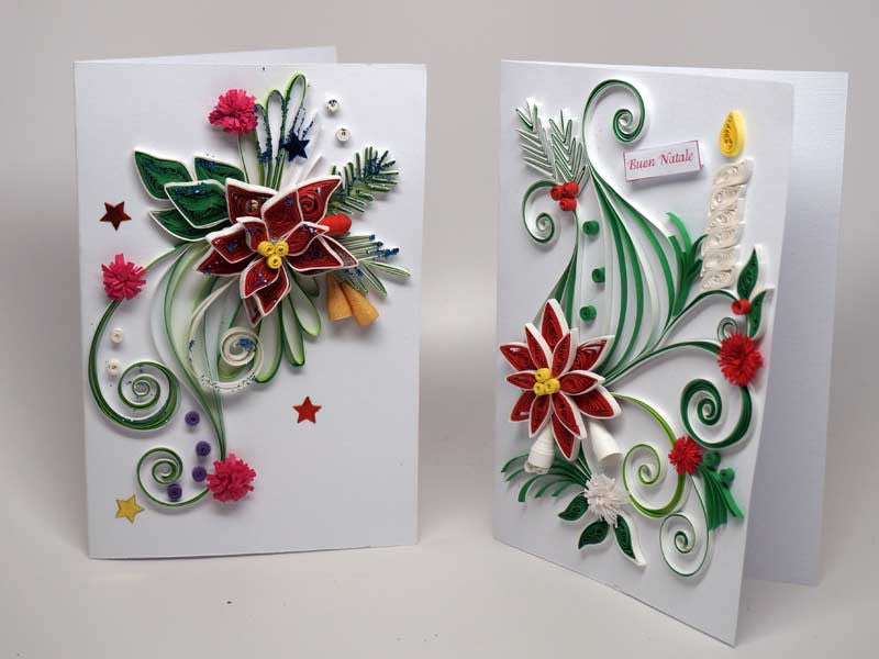 2 christmas cards handmade with paper filigree kolours 2 christmas cards handmade with paper filigree m4hsunfo