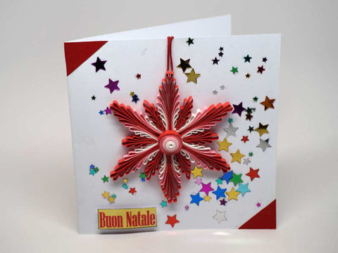 Christmas card with removable decoration