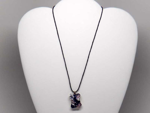 Kolourful glass pendant necklace - dark colours