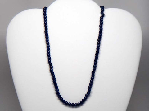 Handicraft necklace with blue hard stones