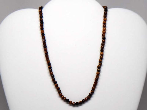 Handicraft necklace with tigerstone