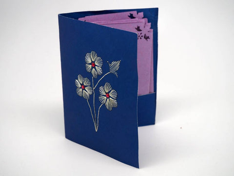 Embroidered card holder with 10 cards