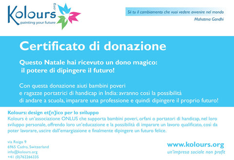 Chrstmas donation (Italiano)