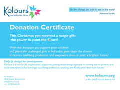Christmas donation certificate 15 euros