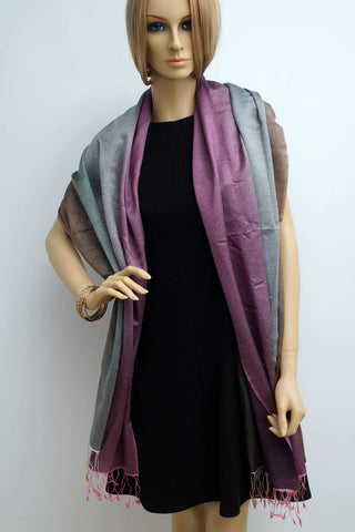 Pashmina and silk scarf - soft and warm