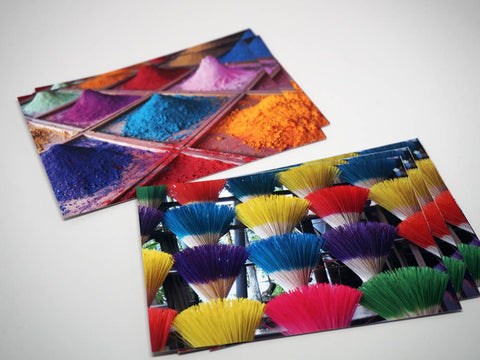 Postcards kolours - package 6 pieces