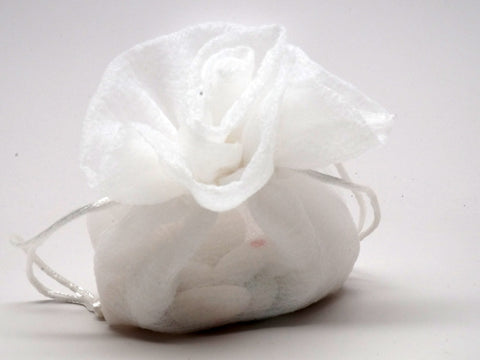 Rose shaped white pouch - celebrations gift