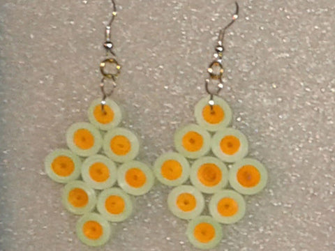 Handmade paper filigree earrings