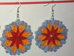 Special handmade paper filigree earrings