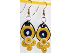 Handmade paper filigree bee earrings