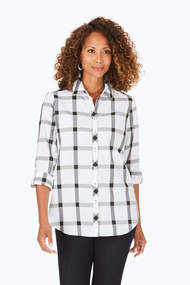 Foxcroft Zoey Window Pane Shirt