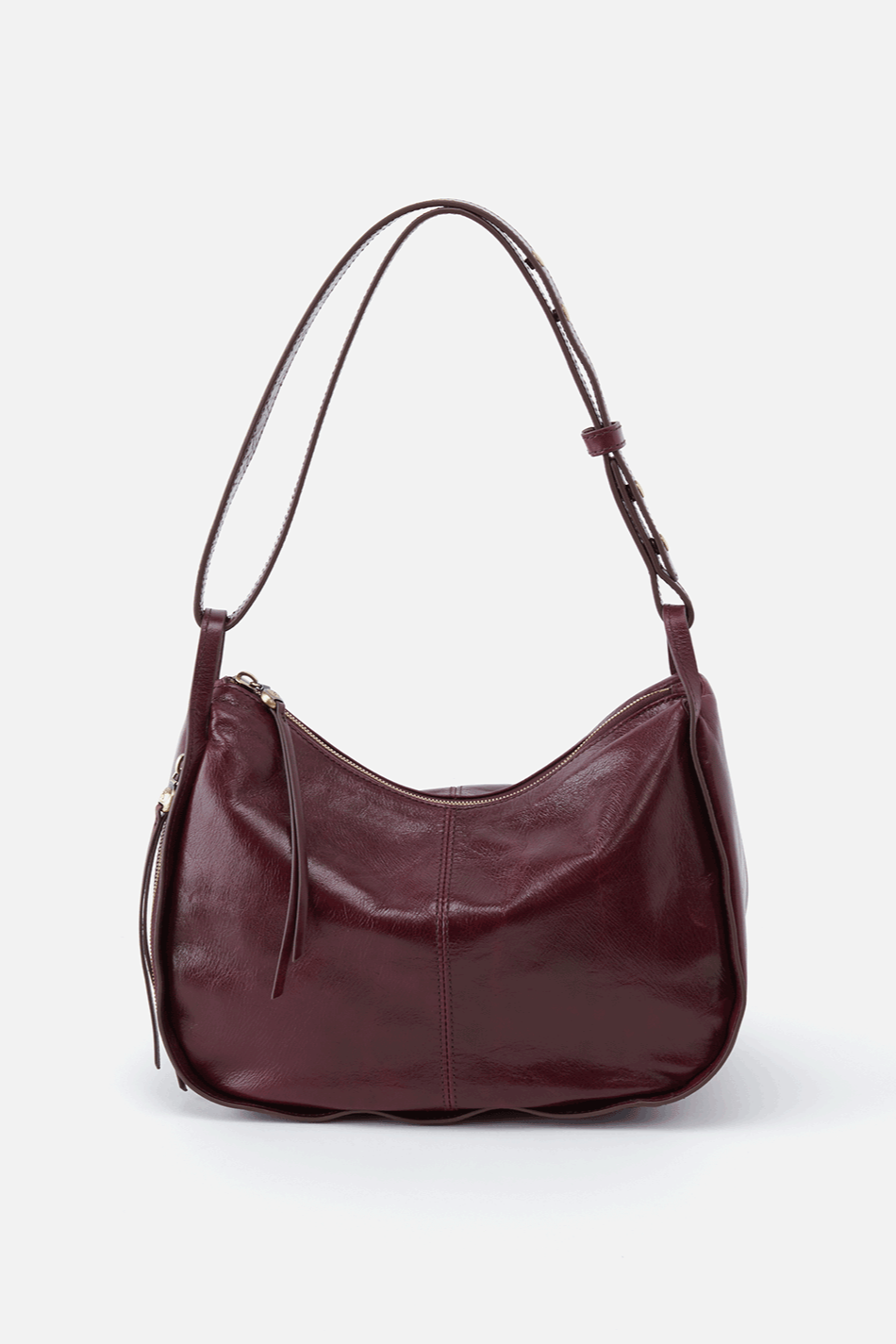 Hobobag Arlet Crossbody and Shoulder Convertible handbag in deep plum