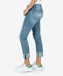 Kut Catherine Boyfriend Jeans with Raw Hem