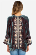 Load image into Gallery viewer, Johnny Was Marushka Velvet Flare Sleeve Top