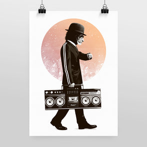 Bowler & Briefcase Print by Hidden Moves