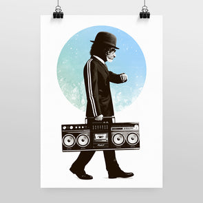 Bowler & Briefcase (Variant) Print by Hidden Moves