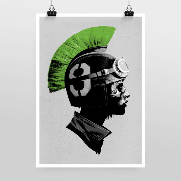 Player vs. Player (Green) Print by Hidden Moves