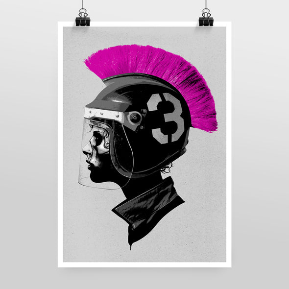 Player vs. Player (Pink) Print by Hidden Moves