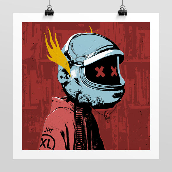 Space Face Print by Hidden Moves
