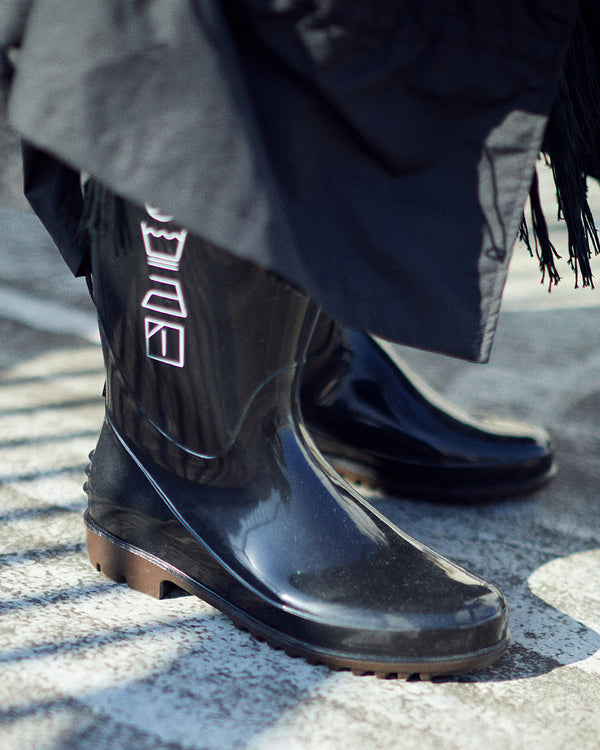 SHOELACES RAIN BOOTS[BLACK]