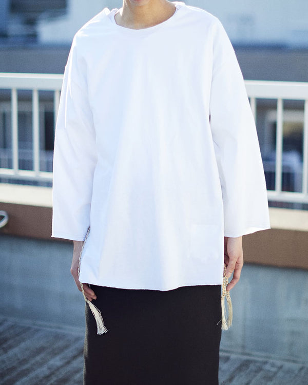 TASSEL BASEBALL T-SHIRT[WHITE]
