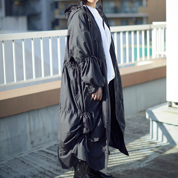 DRAWCORD LIGHT MODS COAT[BLACK]