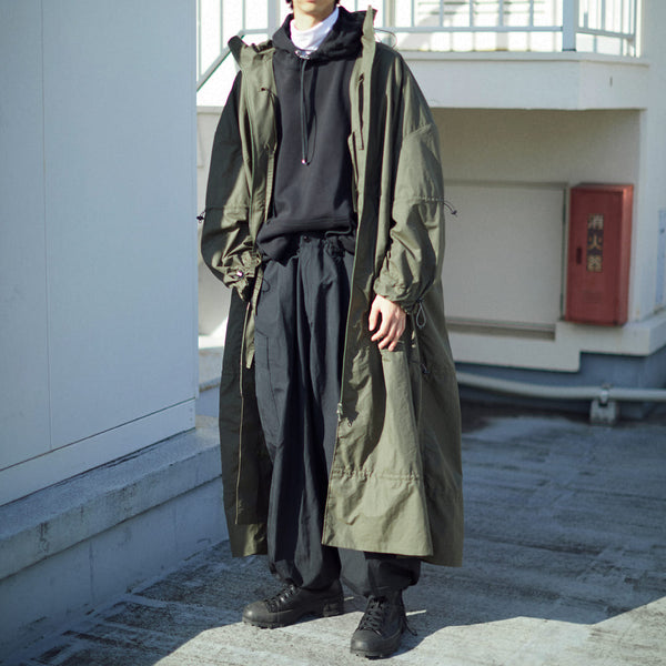 DRAWCORD LIGHT MODS COAT[KHAKI]