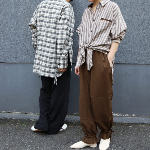 CITY&HOME EASY PANTS[BROWN]
