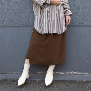 CITY&HOME APRON SKIRT[BROWN]